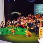 Biergarten auf der Bühne des Stadttheaters