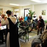 Der Gesangverein Sudetenland unter der Leitung von Bruder Johannes