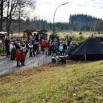 Gespannt lauschten die Besucher den kaltentaler Alphornbläsern