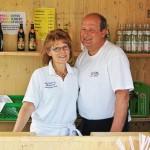 Die Metzgerei/Partyservice Anton Bauer aus Pforzen verwöhnten die Besucher wieder mit leckerem Krustenbraten