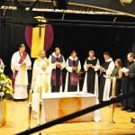 v.l.n.r.: Pfr. Mass, Assistent, P. Gerhard, Abt Klaus, P. Michael, Br. Fritz, Br. Georg, und ganz rechts Br. Maximilien