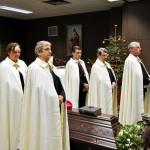 Totenwache der Ökumenischen Bruderschaft vom Heiligen Grab zu Jerusalem für Abt Klaus