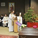 Pater Michael Maier OPR, der Stellvertreter von Abt Klaus hielt die Predigt über dessen Spiritualität