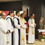 v.l.n.r.: Pfr. Arthur aus Polen, Bruder Maximilien und Bruder Johannes vom Kloster St. Severin, Pater Gerhard, Pater Michael