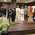 Die nächsten Verwandten von Abt Klaus mit Bischof Roald und Pater Michael