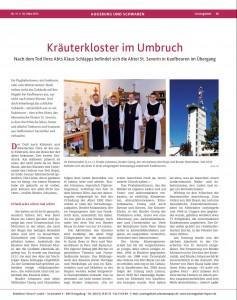 Zeitungsartikel im evangelischen Sonntagsblatt am 10.03.2013