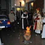 Es fand die Segnung des Osterfeuers statt