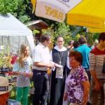 Abt Michael Maier im Gespräch mit dem Bürgermeister