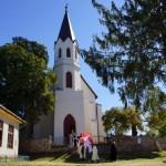 Prozession von der Kirche aus zum Friedhof