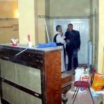Die Sanierungsarbeiten und der Einbau der Heizung im Pfarrsaal unter der Kirche