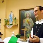 Nach der Andacht durfte Abt Michael noch einige Worte an die Gläubigen richten
