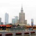 Im Zentrum von Warschau steht der umstrittene Kulturpalast, ein Geschenk von Stalin